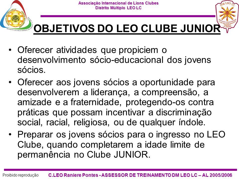 OBJETIVOS DO LEO CLUBE JUNIOR