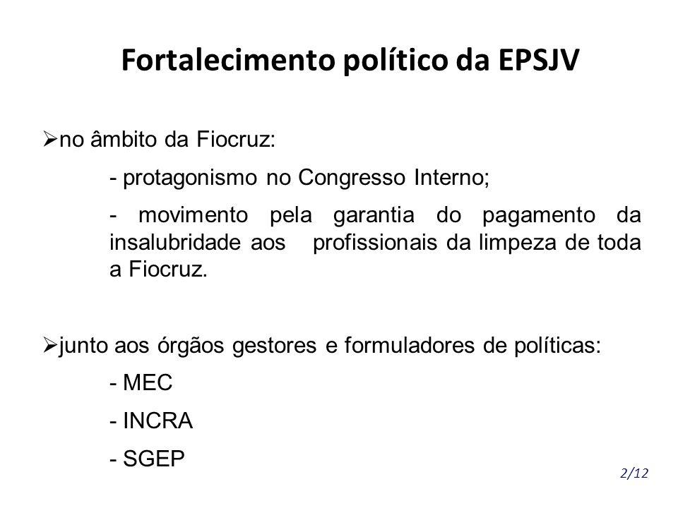 Fortalecimento político da EPSJV