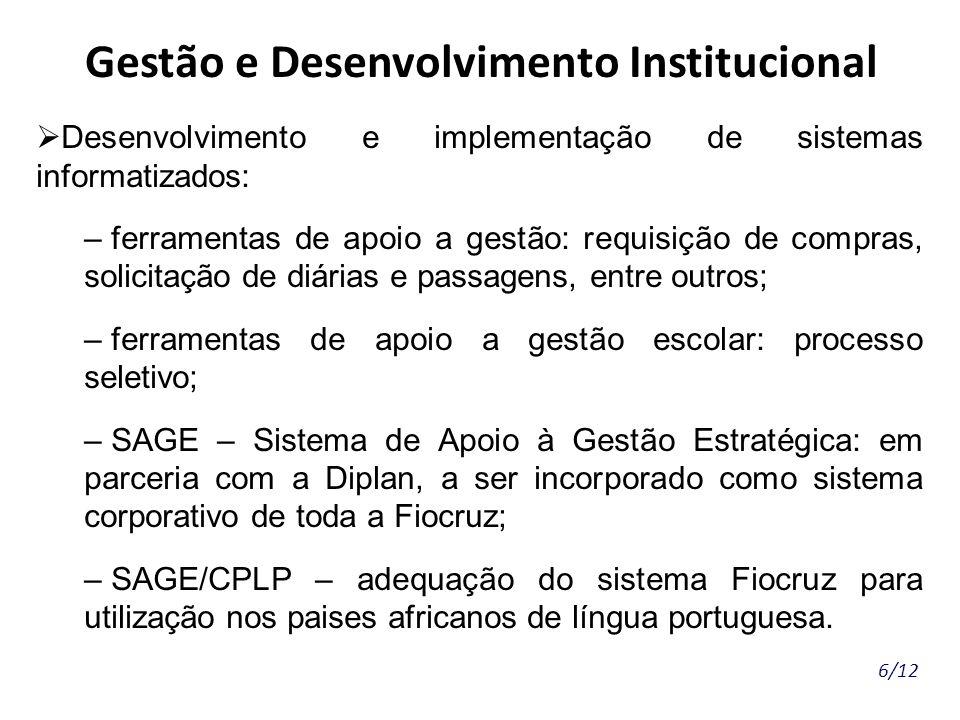 Gestão e Desenvolvimento Institucional