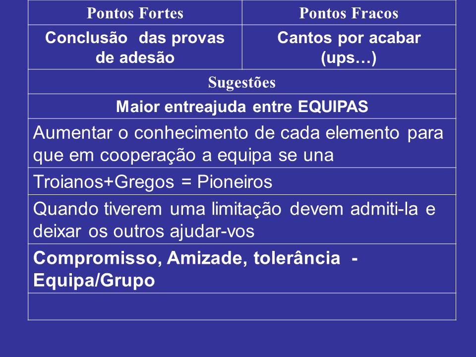 Troianos+Gregos = Pioneiros