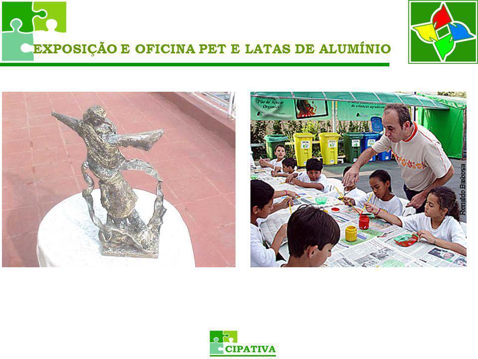 EXPOSIÇÃO E OFICINA PET E LATAS DE ALUMÍNIO