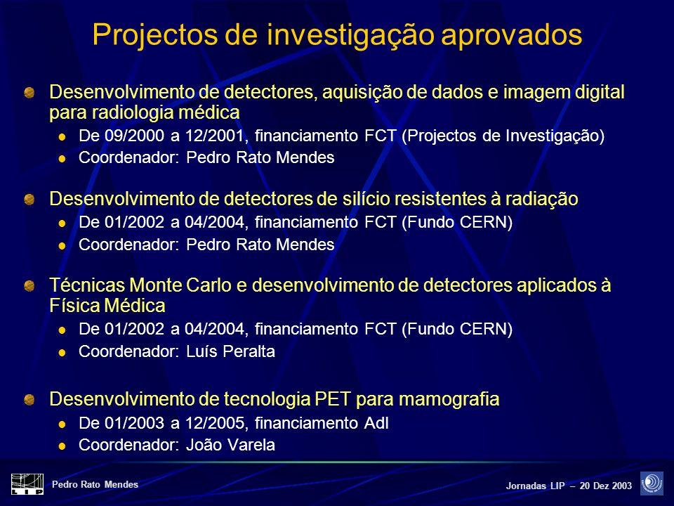 Projectos de investigação aprovados
