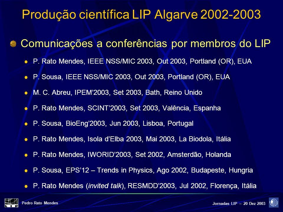 Produção científica LIP Algarve 2002-2003