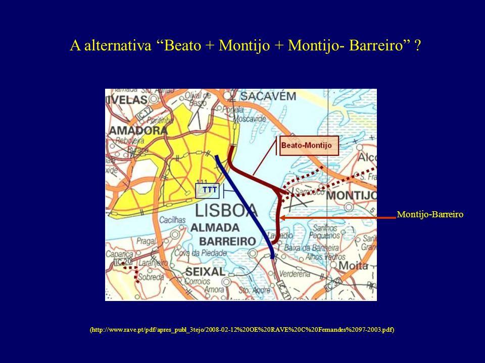 A alternativa Beato + Montijo + Montijo- Barreiro