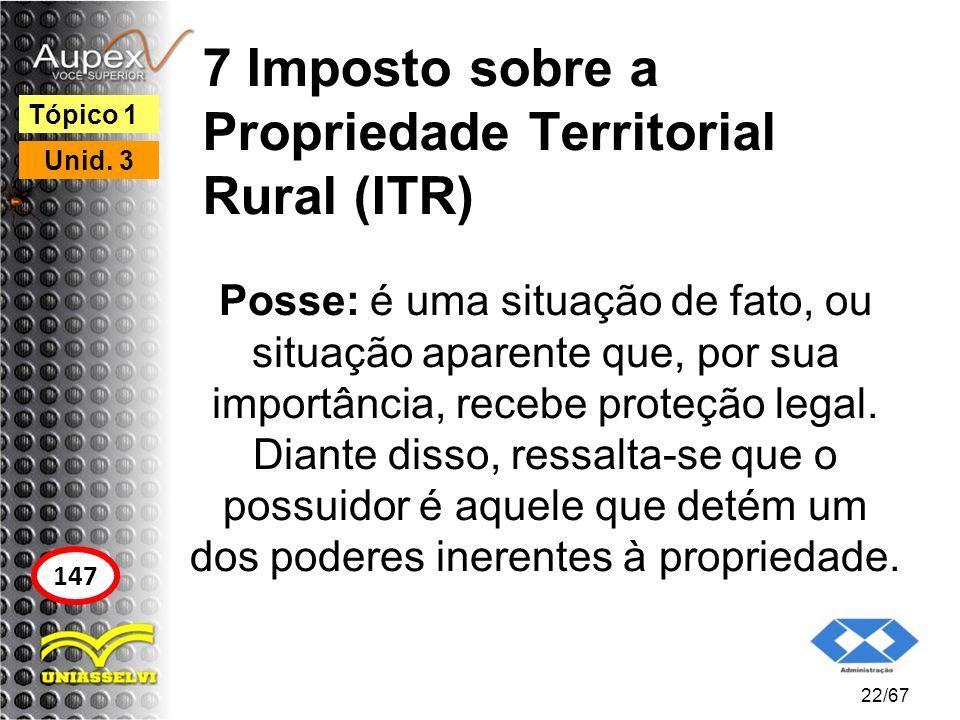 7 Imposto sobre a Propriedade Territorial Rural (ITR)