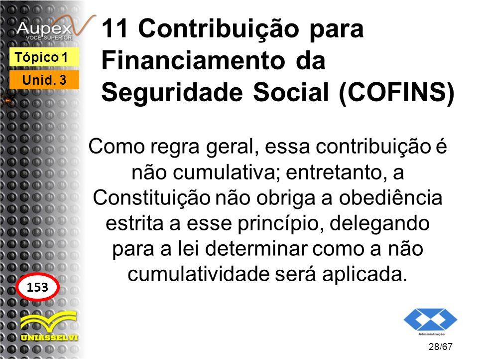11 Contribuição para Financiamento da Seguridade Social (COFINS)
