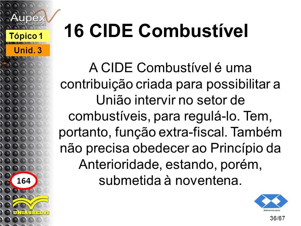 16 CIDE Combustível Tópico 1. Unid. 3.