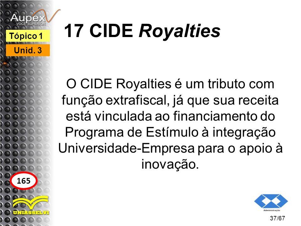 17 CIDE Royalties Tópico 1. Unid. 3.