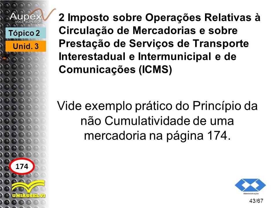 2 Imposto sobre Operações Relativas à Circulação de Mercadorias e sobre Prestação de Serviços de Transporte Interestadual e Intermunicipal e de Comunicações (ICMS)