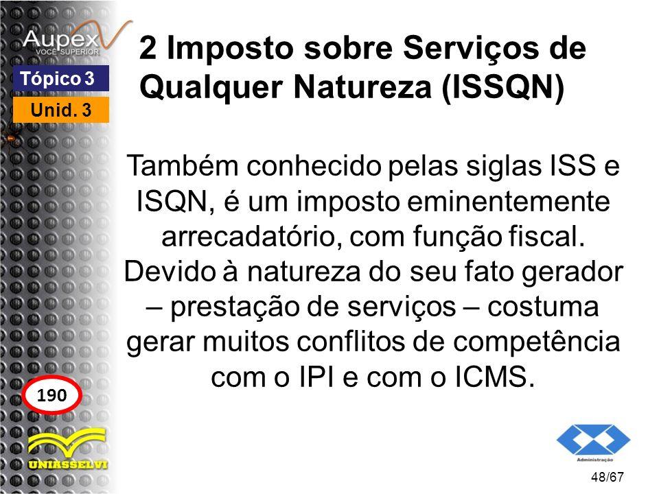 2 Imposto sobre Serviços de Qualquer Natureza (ISSQN)