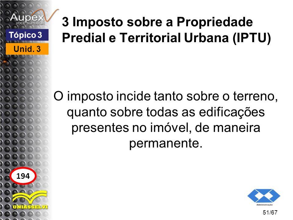 3 Imposto sobre a Propriedade Predial e Territorial Urbana (IPTU)