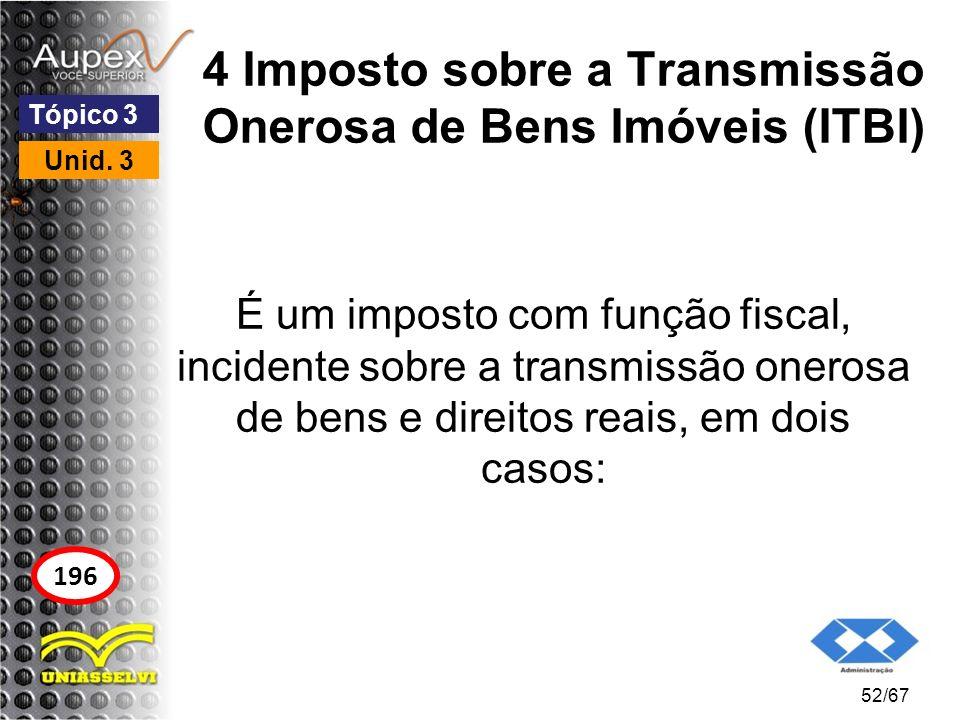4 Imposto sobre a Transmissão Onerosa de Bens Imóveis (ITBI)