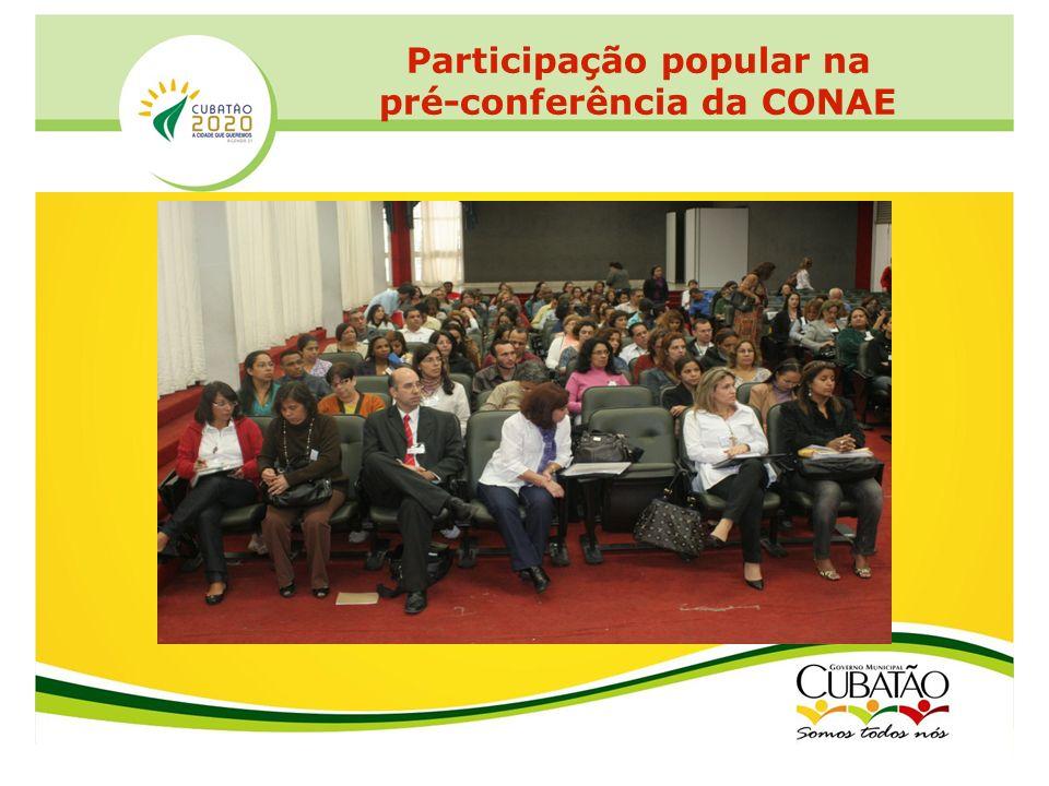 Participação popular na pré-conferência da CONAE