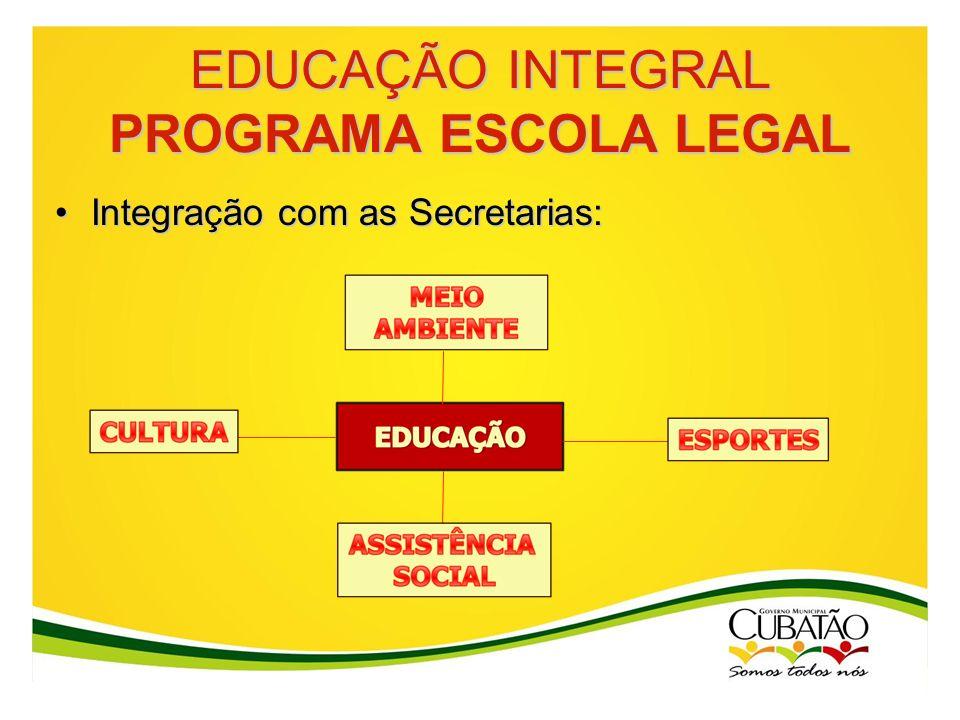 EDUCAÇÃO INTEGRAL PROGRAMA ESCOLA LEGAL