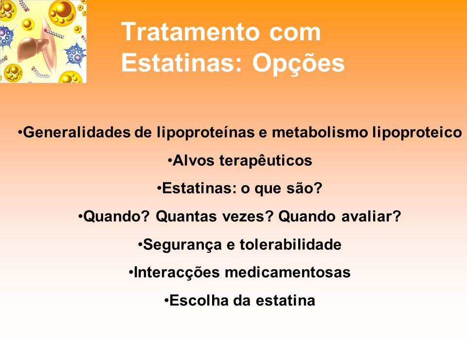 Tratamento com Estatinas: Opções