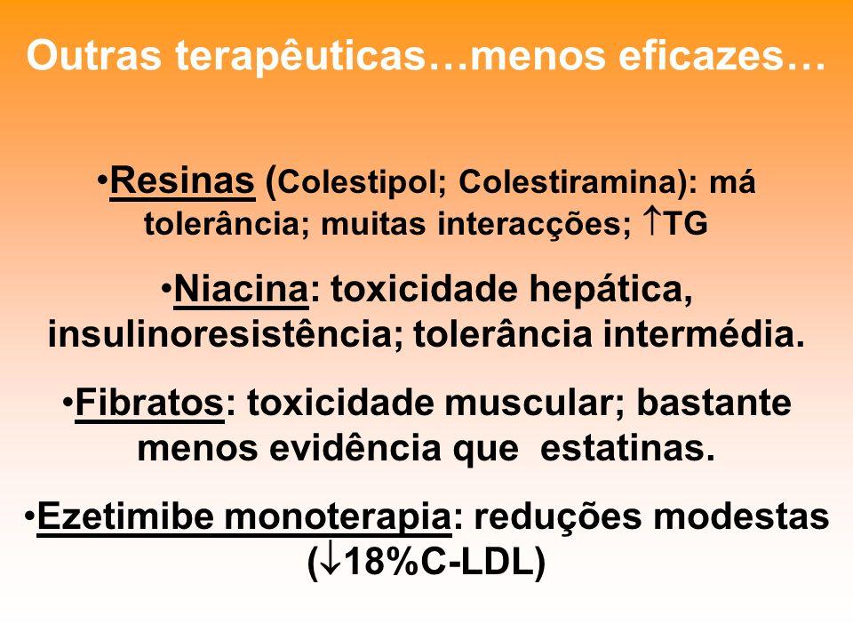 Outras terapêuticas…menos eficazes…