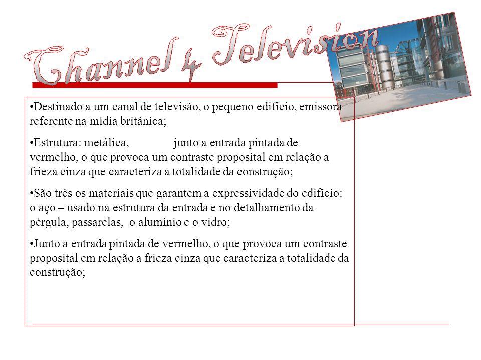 Channel 4 Television Destinado a um canal de televisão, o pequeno edifício, emissora referente na mídia britânica;