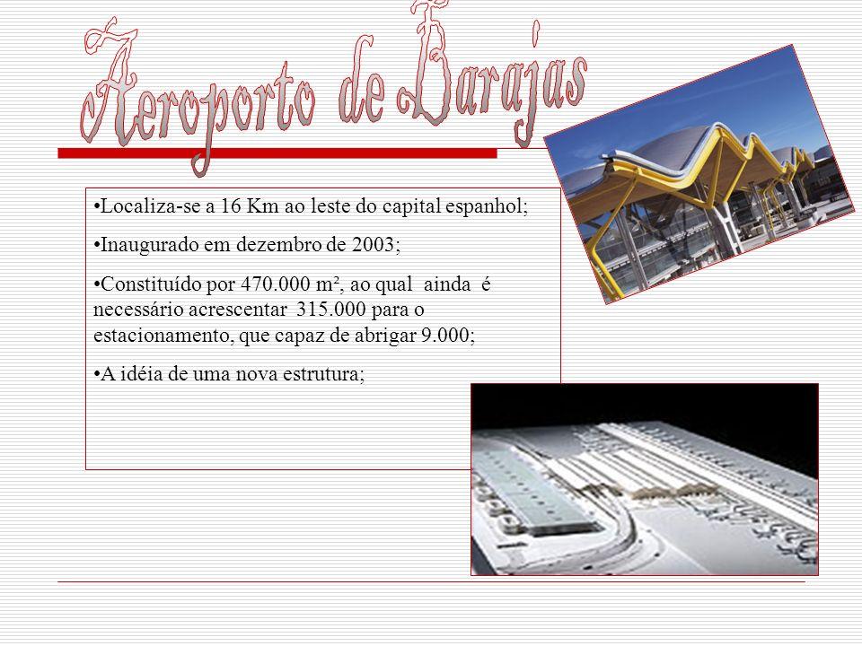 Aeroporto de Barajas Localiza-se a 16 Km ao leste do capital espanhol;