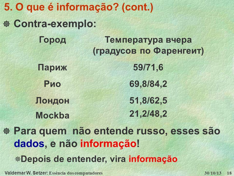 5. O que é informação (cont.)