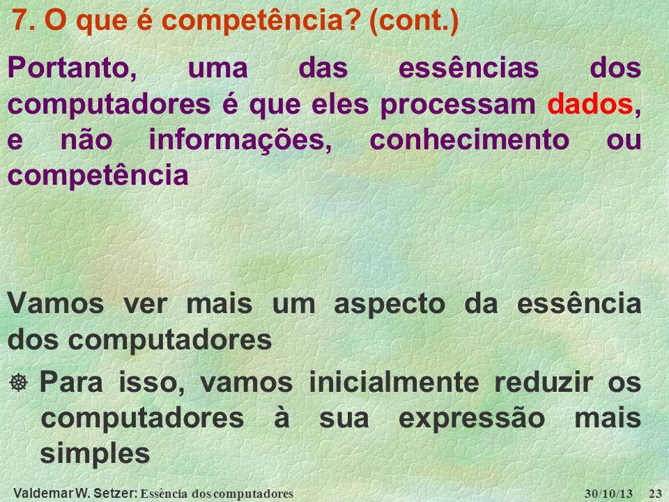 7. O que é competência (cont.)