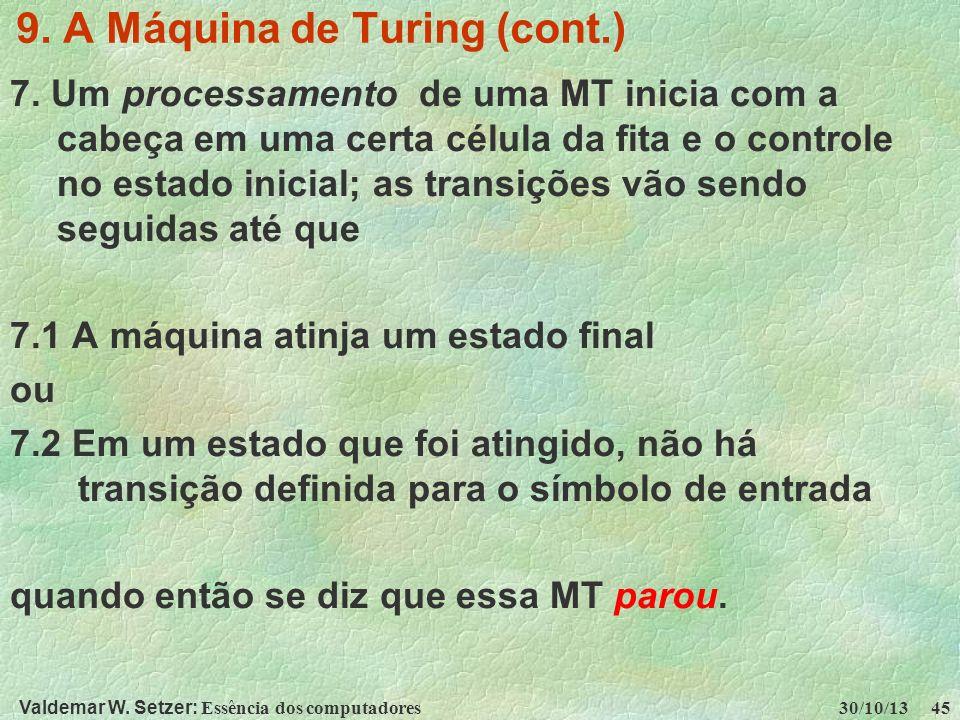 9. A Máquina de Turing (cont.)