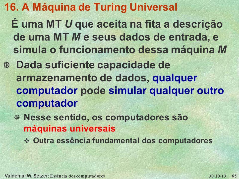 16. A Máquina de Turing Universal