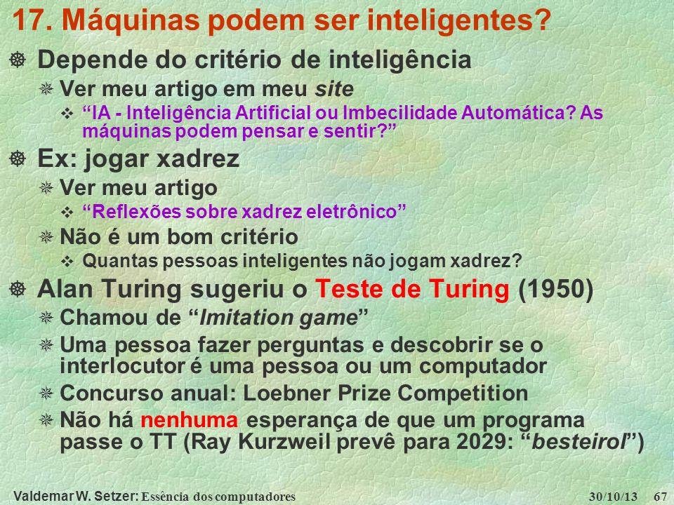 17. Máquinas podem ser inteligentes