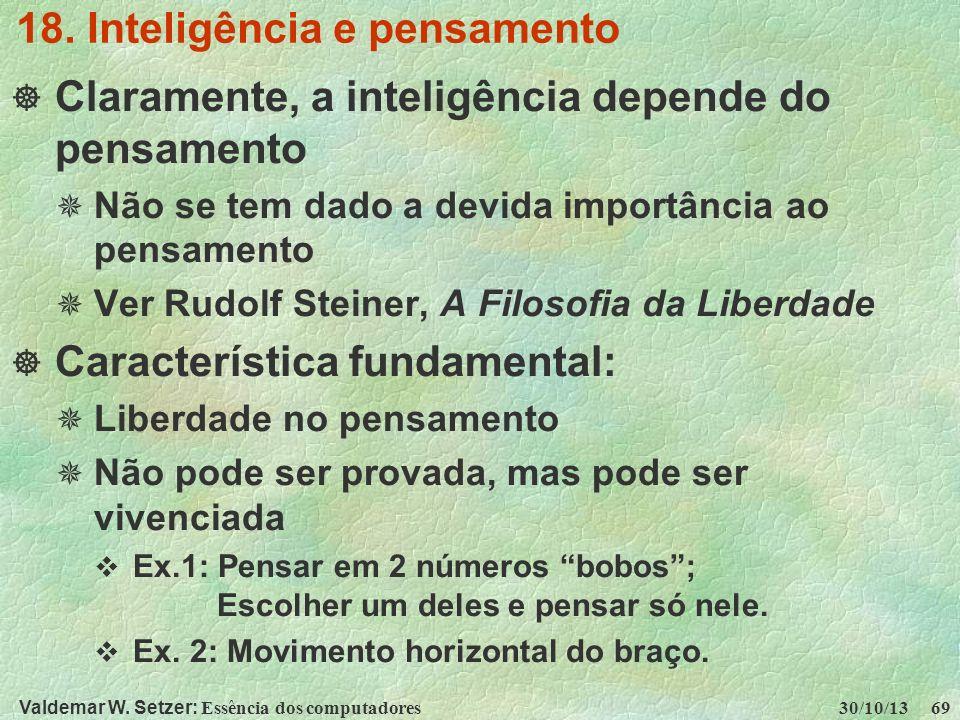 18. Inteligência e pensamento