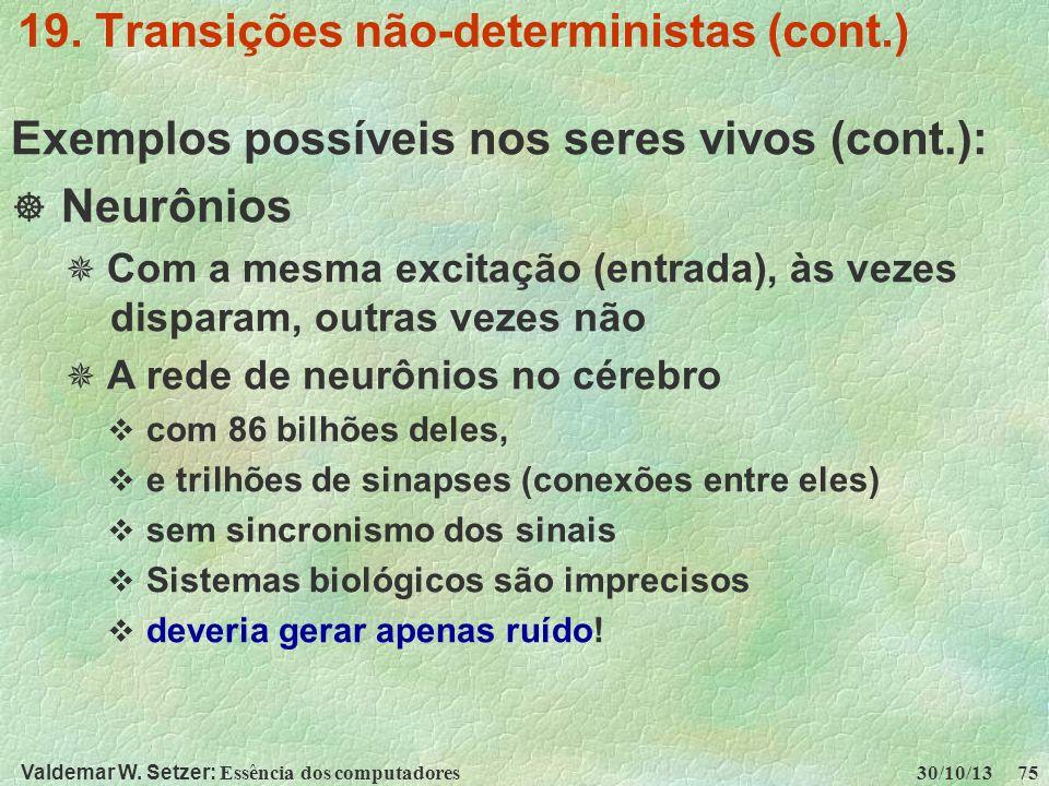 19. Transições não-deterministas (cont.)