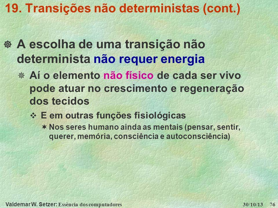 19. Transições não deterministas (cont.)