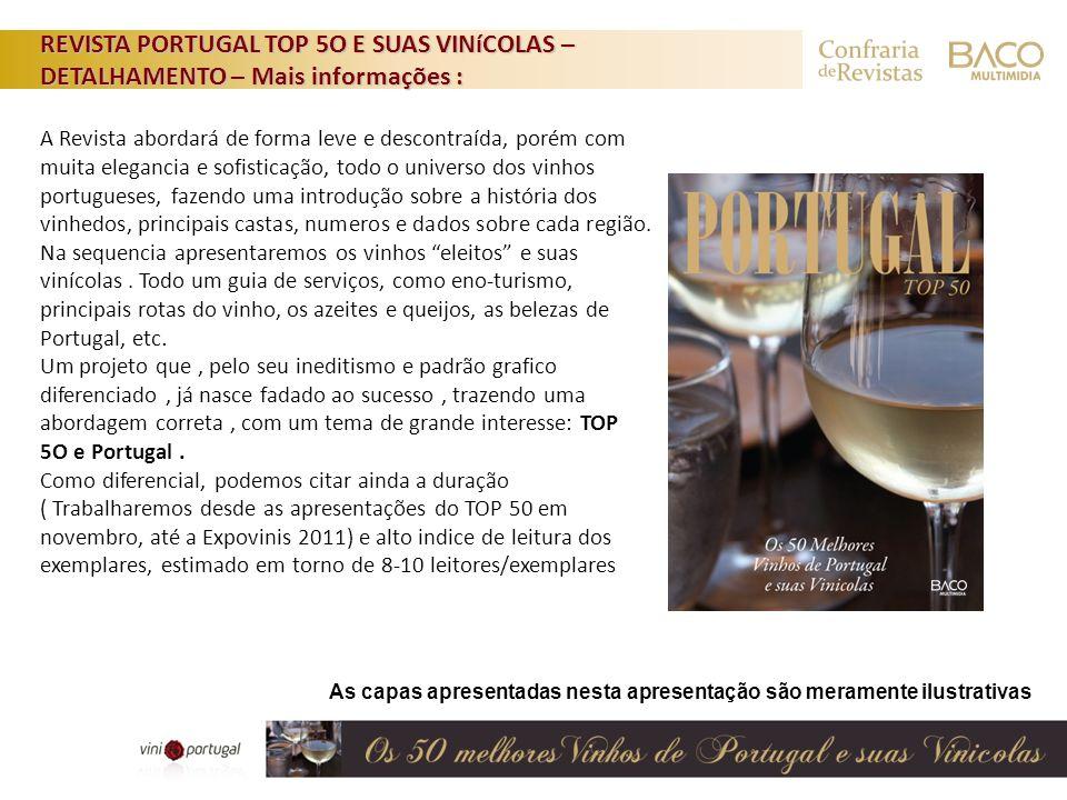 REVISTA PORTUGAL TOP 5O E SUAS VINíCOLAS – DETALHAMENTO – Mais informações :