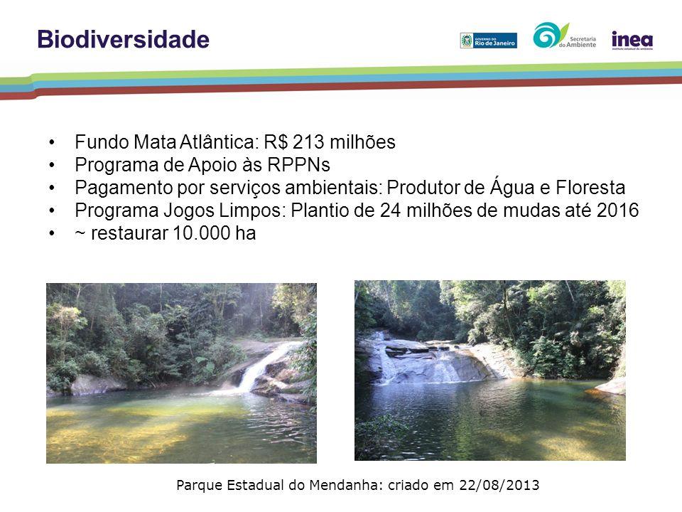 Parque Estadual do Mendanha: criado em 22/08/2013