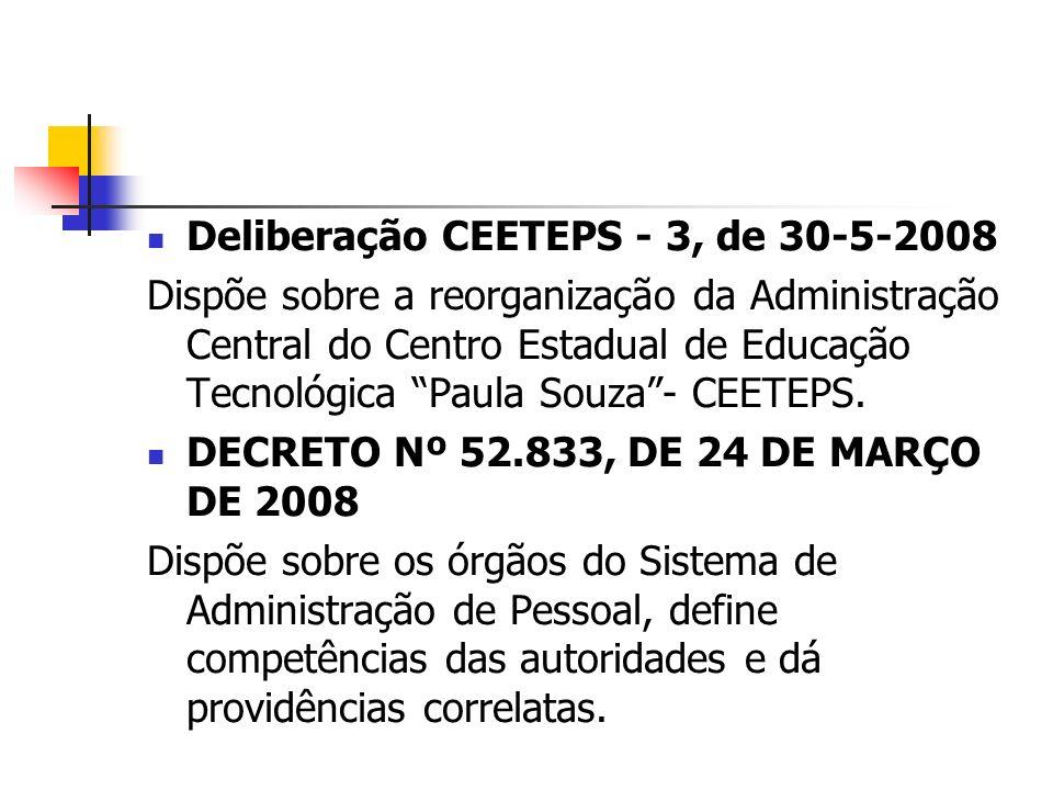 Deliberação CEETEPS - 3, de 30-5-2008