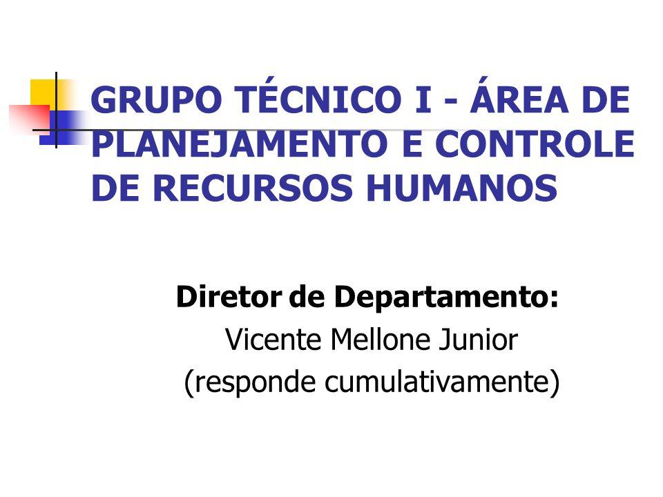 GRUPO TÉCNICO I - ÁREA DE PLANEJAMENTO E CONTROLE DE RECURSOS HUMANOS
