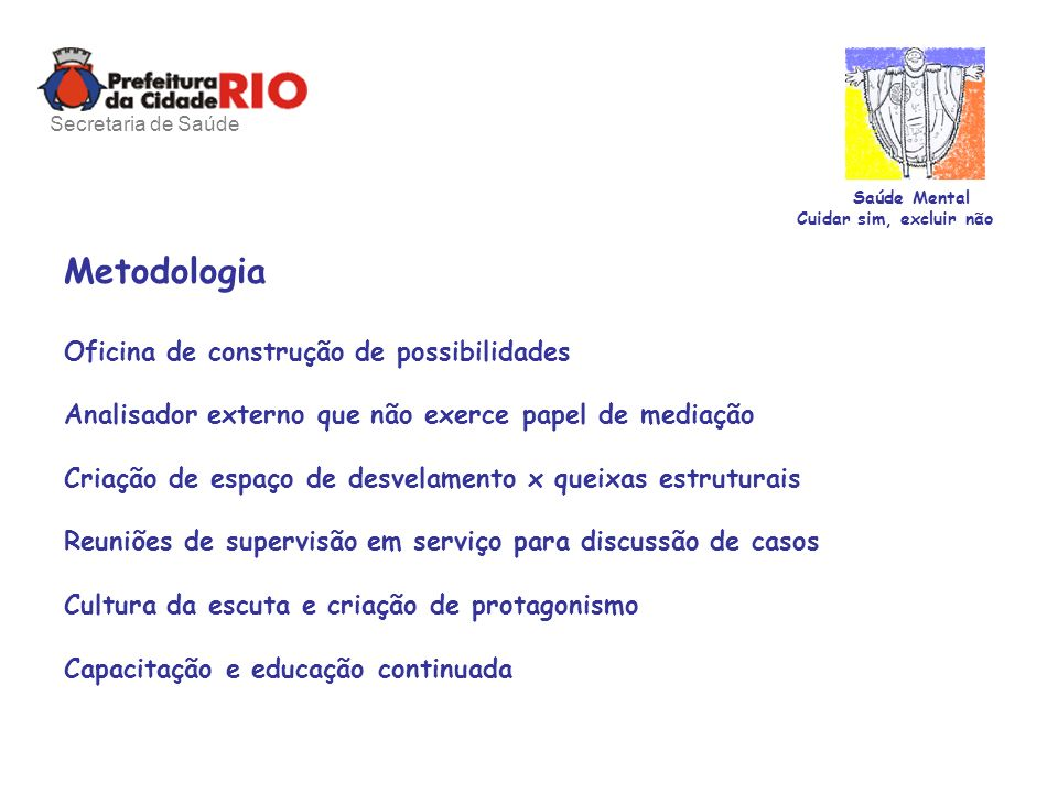 Metodologia Oficina de construção de possibilidades