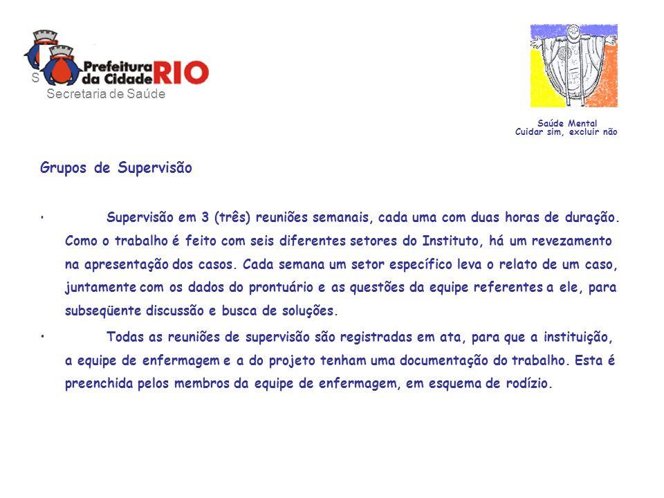 Grupos de Supervisão Secretaria de Saúde Secretaria de Saúde