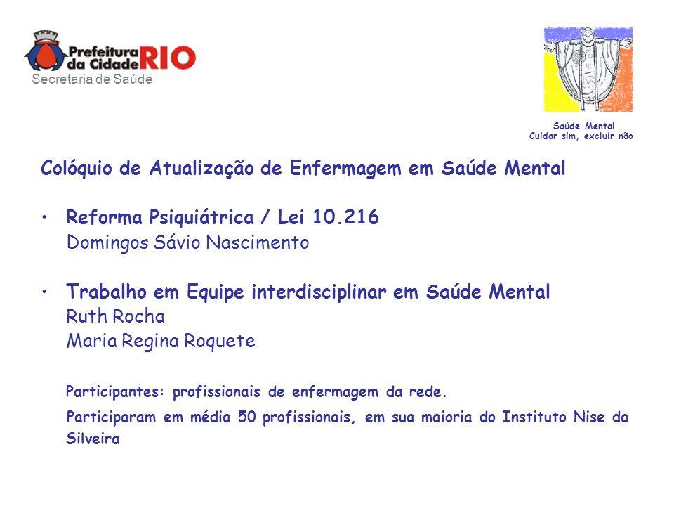Colóquio de Atualização de Enfermagem em Saúde Mental