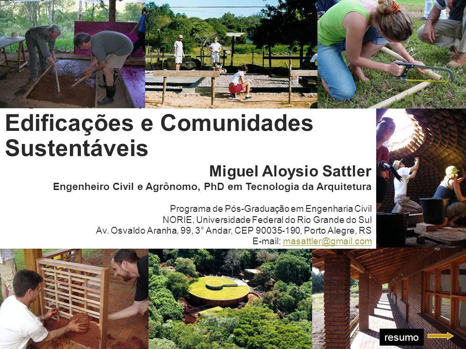 Aula Magna Edificações e Comunidades Sustentáveis