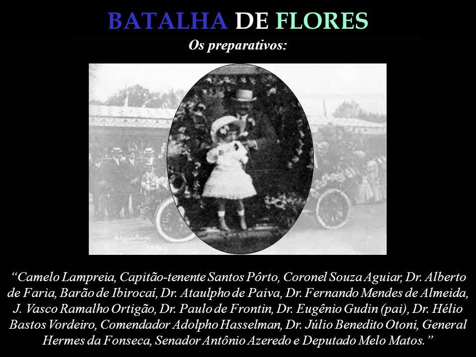 BATALHA DE FLORES Campo de Santana em 1880 Campo de Santana em 1909