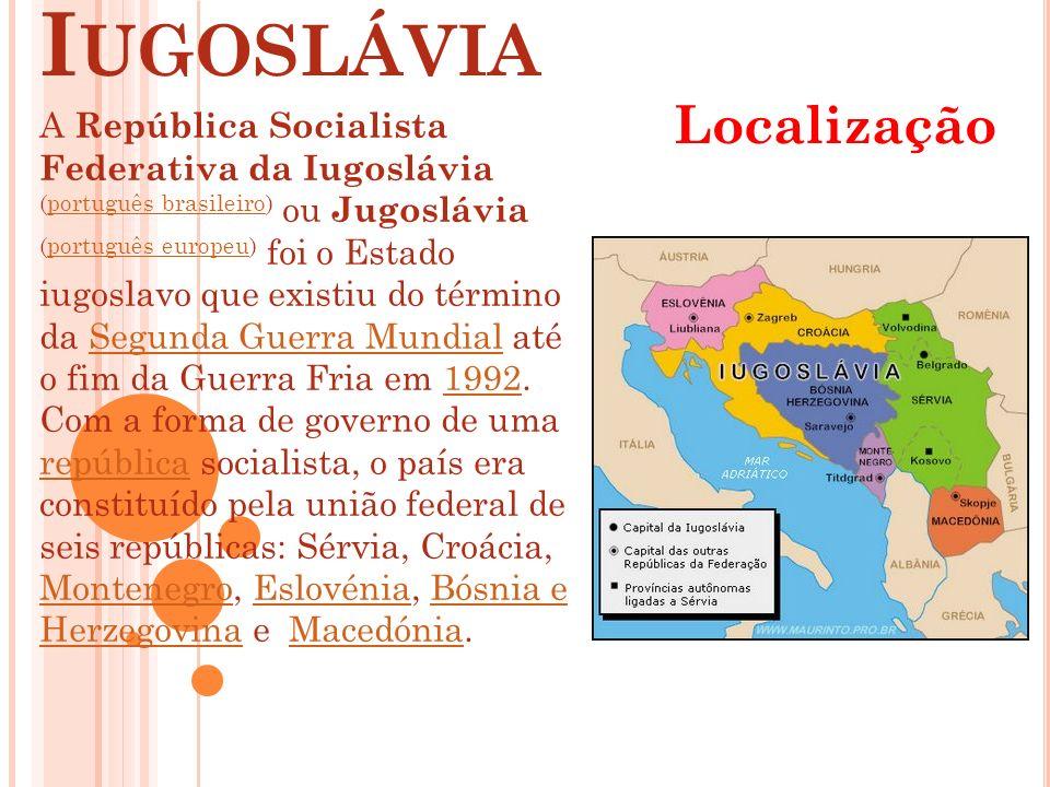 Iugoslávia Localização