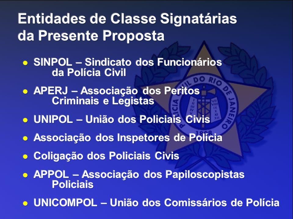 Entidades de Classe Signatárias da Presente Proposta