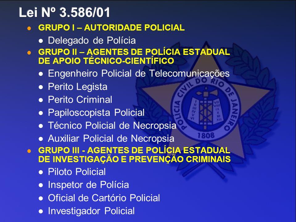 Lei Nº 3.586/01 Delegado de Polícia