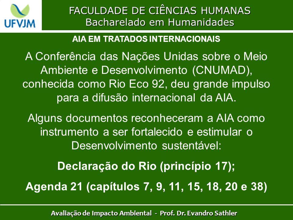 Declaração do Rio (princípio 17);