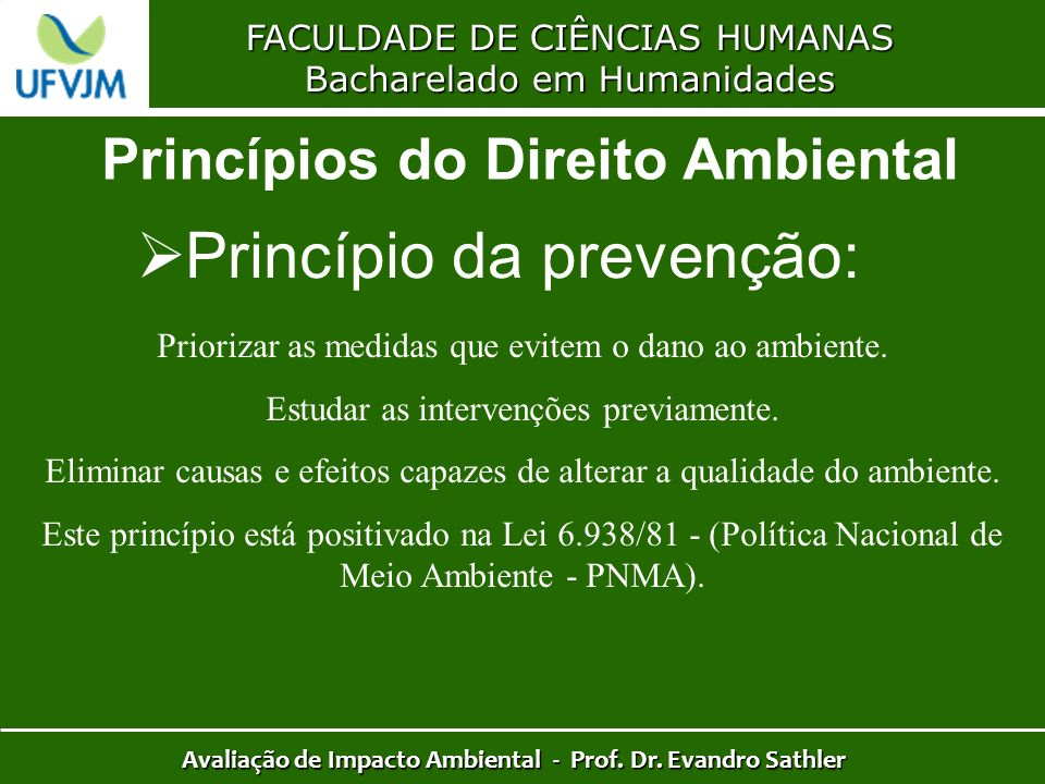 Princípio da prevenção: