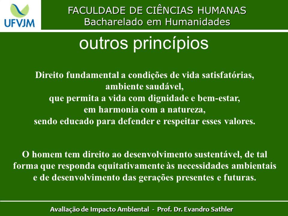 outros princípios FACULDADE DE CIÊNCIAS HUMANAS