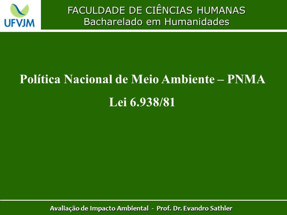 Política Nacional de Meio Ambiente – PNMA