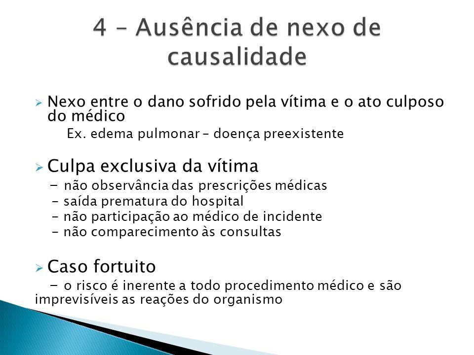 4 – Ausência de nexo de causalidade