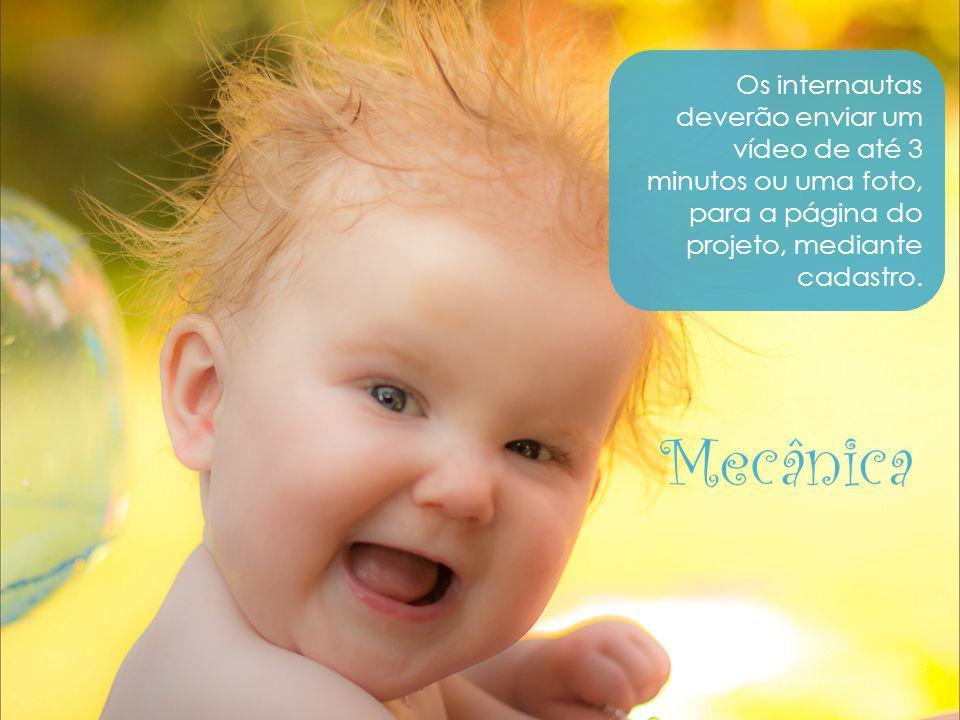 Os internautas deverão enviar um vídeo de até 3 minutos ou uma foto, para a página do projeto, mediante cadastro.