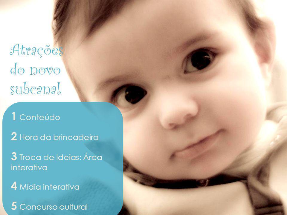 Bebê e Gravidez Atrações do novo subcanal 1 Conteúdo
