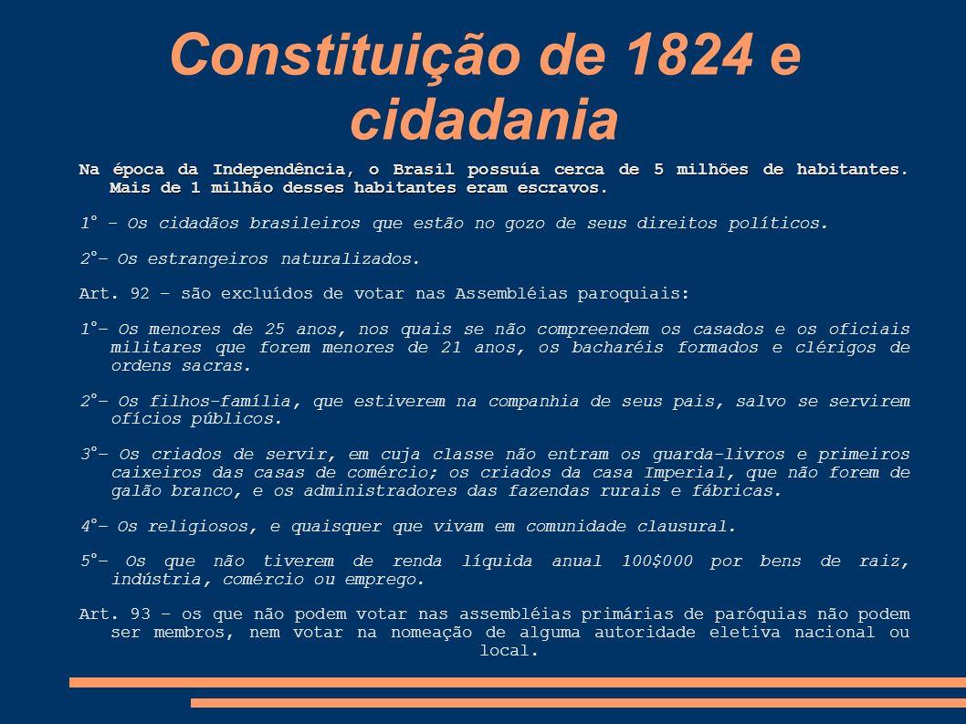 Constituição de 1824 e cidadania